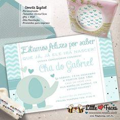 Convite Chá de Bebê Elefantinho para Imprimir