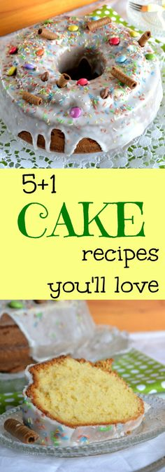 6 of my favorite recipes for all kinds of cakes. Chocolate cake, vegan cake, carrot cake, sponge cake and more! You will love them!