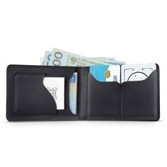 Leather Wallet: Black Combo Wallet