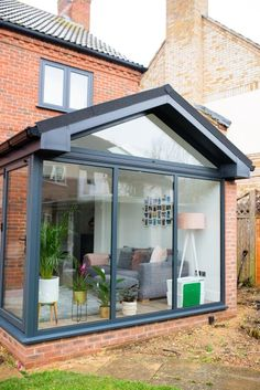 Our Modern Conservatory Extension- Before and After (Home Renovation Project - Mummy Daddy Me. Our Modern Conservatory Extension- Before and After (Home Renovation Project House Extension Design, Glass Extension, Extension Designs, Living Room Extension Ideas, Rear Extension, Kitchen Extension Glass Roof, Garage Extension, Modern Conservatory, Conservatory Extension