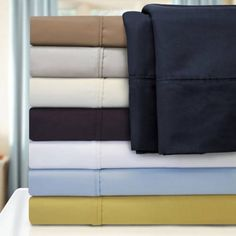 Superior 1000 Thread Count Solid Cotton Blend Sheet Set, Purple