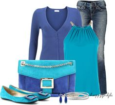 """Blue, Blue, Blue"" by happygirljlc on Polyvore"