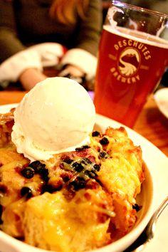 Huckleberry Hop Bread Pudding