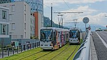 Ligne E du tramway de Grenoble — Convoi inaugural St Martin le Vinoux
