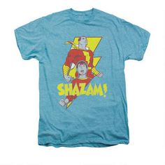 Shazam SAY MY NAME Licensed Adult Heather T-Shirt All Sizes