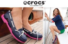 Super Cute Croc Boat Shoes--I got these from Mom and Dad for my bday.