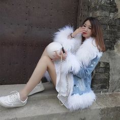 Parka Coat, Fur Slides, Fashion, Moda, Fashion Styles, Fashion Illustrations, Fashion Models