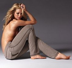 Sporty-Brown Jeans of Victoria's Secret By Erin Heatherton