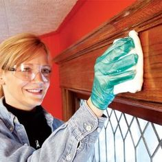 Renew the lustrous appearance of stained and varnished woodwork without the messy stripping process. We show you how.