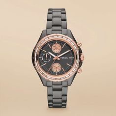 Fossil Dylan Stainless Steel Watch – Smoke with Rose