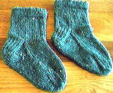 One-ball Picot Hemmed Socks for Children freepattern
