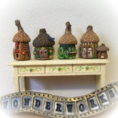 Small but butifull. on Pinterest | Fairy Houses, Felt Fairy and Fimo: https://www.pinterest.com/craftyjenny70/small-but-butifull