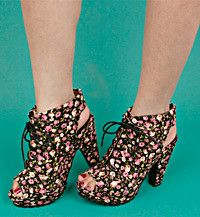 I love crazy wild florals right now. $69
