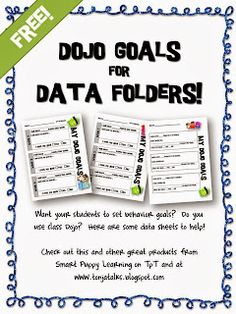 TonjaTalks: Class DOJO freebie for Data Folders