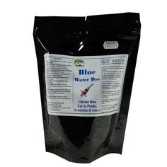 8 OZ Powder for your Garden Pond Decor & Weed Control By Hydra Blue Water Dye by HYDRA. $27.49. Enhances the reflective properties of ponds and water features.. Highly Concentrated Powder - three times stronger than liquid dyes.. Gives a rich blue finish to water - Lasts for months.. Within minutes of applying the product, the pond water is coloured blue.. Blocks the sun's rays (UV light) to effectively starve the growth of existing algae and formation of new.. Ev...