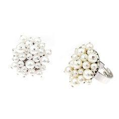 Carla Briullanti ring with Swarovski pearls. Swarovski Pearls, Stud Earrings, Wedding, Jewelry, Fashion, Valentines Day Weddings, Moda, Jewlery, Jewerly