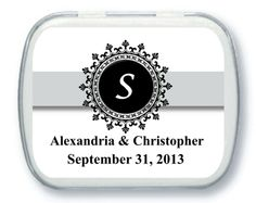 Personalized Wedding Mint Tins - Wedding Party Favors