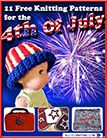 """""""11 Free Knitting Patterns for the 4th of July"""" eBook  By: Caitlin Kavanaugh, Editor for AllFreeKnitting.com"""