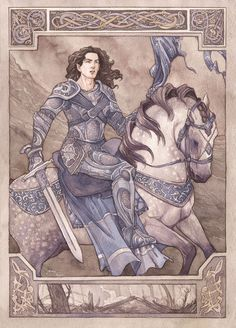 """Fingolfin's Challenge"" by Gold-Seven. Such a beautiful painting."