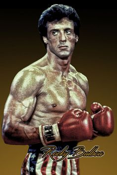 Rocky Balboa Red White & Blue Trunks 8x12 Metal Sign