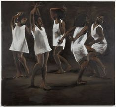LYNETTE YIADOM-BOAKYE, The Hours Behind You, 2011, oil on canvas, 98 3/8 x 118 1/8 inches, LYB11.038, Jack Shainman Gallery, NY