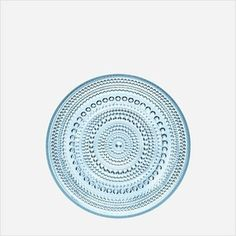 "iittala 6.75"" Set of 2 Kastehelmi Dewdrop Plates in Light Blue"