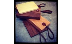 Leather Strap Cutting Boards - i need this in my life