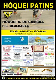 Hóquei em Patins: HA Cambra vs HC Mealhada > 8 Nov 2014, 18h @ Pavilhão Municipal, Vale de Cambra  _2.ª Divisão - Zona Norte_  #ValeDeCambra #HoqueiPatins