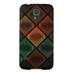 Colorful squares with intricate details give the look of a stained glass window. Samsung Galaxy Cases, Stained Glass Windows, Phone Cases, Abstract Pattern, Squares, Digital Art, Colorful, Design, Stained Glass Panels