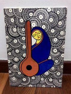 Mandala Art Lesson, Mandala Artwork, Doodle Art Drawing, Mandala Drawing, Small Canvas Art, Diy Canvas Art, Zentangle, Corner Rangoli, Thermocol Craft