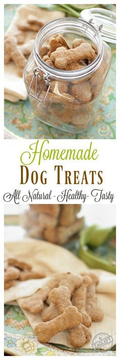 Easy to make, all natural Homemade Dog Treats – healthy, tasty and ones your dogs will surely love! | zagleft.com