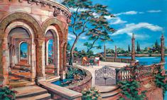 vineyard painter vineyard art wine art golf course painter golf course art tropical art tropical painting