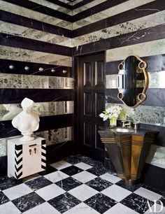 A Contemporary Bathroom designed by Kelly Wearstler | archdigest.com