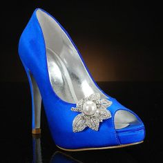 ONA by My Glass Slipped dyed Royal Blue & decorated with Glamour OMG  I have died and gone to heaven.  Love love love