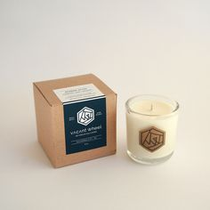 ATHENS OLIVE Clear Glass Soy Candle