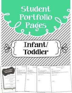 This product includes portfolio pages for Infants and Toddlers based on Early Learning Development Standards.  Teachers just have to add a description and photo or work sample to each page.  This product DOES NOT include the Infant Toddler Developmental Assessment Checklist.