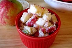 dairy-free apple salad with dairy-free whipped cream base