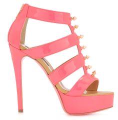 Sandalias tacón rosa