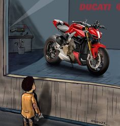 Ducati Motorbike, Honda Scrambler, Bike Bmw, Street Fighter Motorcycle, Motorcycle Bike, Motorcycle Couple Pictures, Ducati 1299 Panigale, Monster Garage, Duke Bike