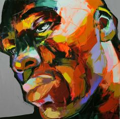 Neon-Rendered Portraiture The Nielly Francoise 'Deja 2012' Series is Vibrant & Emotionally Charged #art #painting #NiellyFrancoise