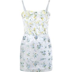 Alexander Mcqueen Sweetpea Floral Print Micro Dress (3,880 SAR) ❤ liked on Polyvore featuring dresses, vestidos, short dresses, flower print dress, embroidered dress, short a line dresses, wet look mini dress and floral mini dress