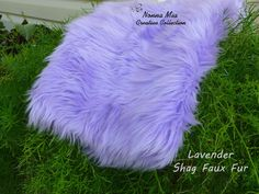 Plush Shag Faux Fur  Lavender         Newborn and by NonnaMiaCC, $10.00