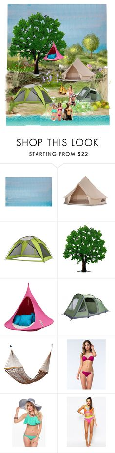 """Glamping"" by mary-thor ❤ liked on Polyvore featuring interior, interiors, interior design, home, home decor, interior decorating, Williams-Sonoma, Cacoon, The Bikini Lab and Jaded"