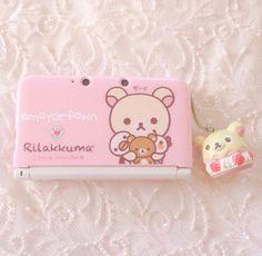 Mayorfawn   kawaii pics   rilakkuma ans korilakkuma   pink rose 3DS   re-upload pics deleted on instagram