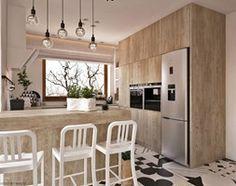 """W klimacie """"new nordic"""" - Średnia otwarta kuchnia w kształcie litery g, styl skandynawski - zdjęcie od ELEMENTY"""