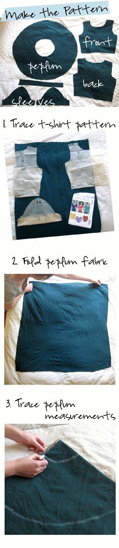Peplum top sewing tutorial (not a huge peplum fan, but like her pattern altering advice!)