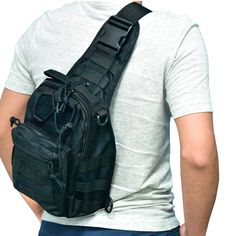 Liibot 600D Wear-resistant Oxford Casual Daypacks Sling Bag for Sports Camping ( Black ). Durable Oxford material suitable for anything from an intense hiking session to a leisurely camping trip . 3 Ways style , Can be used as one should bag, Chest pouch or handbag With adjustable strap. (Shoulder Bag, Chest Sling - Back Sling, Hand Carry). Small MOLLE pouch,Multiple Zippered Pockets to Keep All Your Stuff Organized. The front and lateral sides of the main pocket are designed with MOLLE...