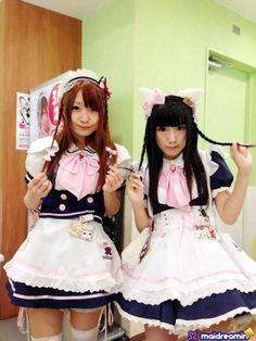 Maid Cafe Resource Harajuku Fashion, Kawaii Fashion, Lolita Fashion, Japanese Fashion, Japanese Girl, I Love Girls, Cute Girls, French Maid Dress, Maid Cosplay
