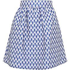 Alice + Olivia Jo High Waist Skirt ($258) ❤ liked on Polyvore