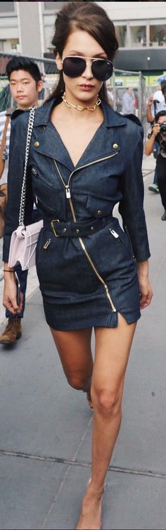 Bella Hadid wearing ANDREA FENZI and Annelise Michelson